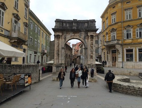 The City of Pula, Croatia