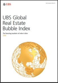 UBS Global Real Estate Bubble Index 2016