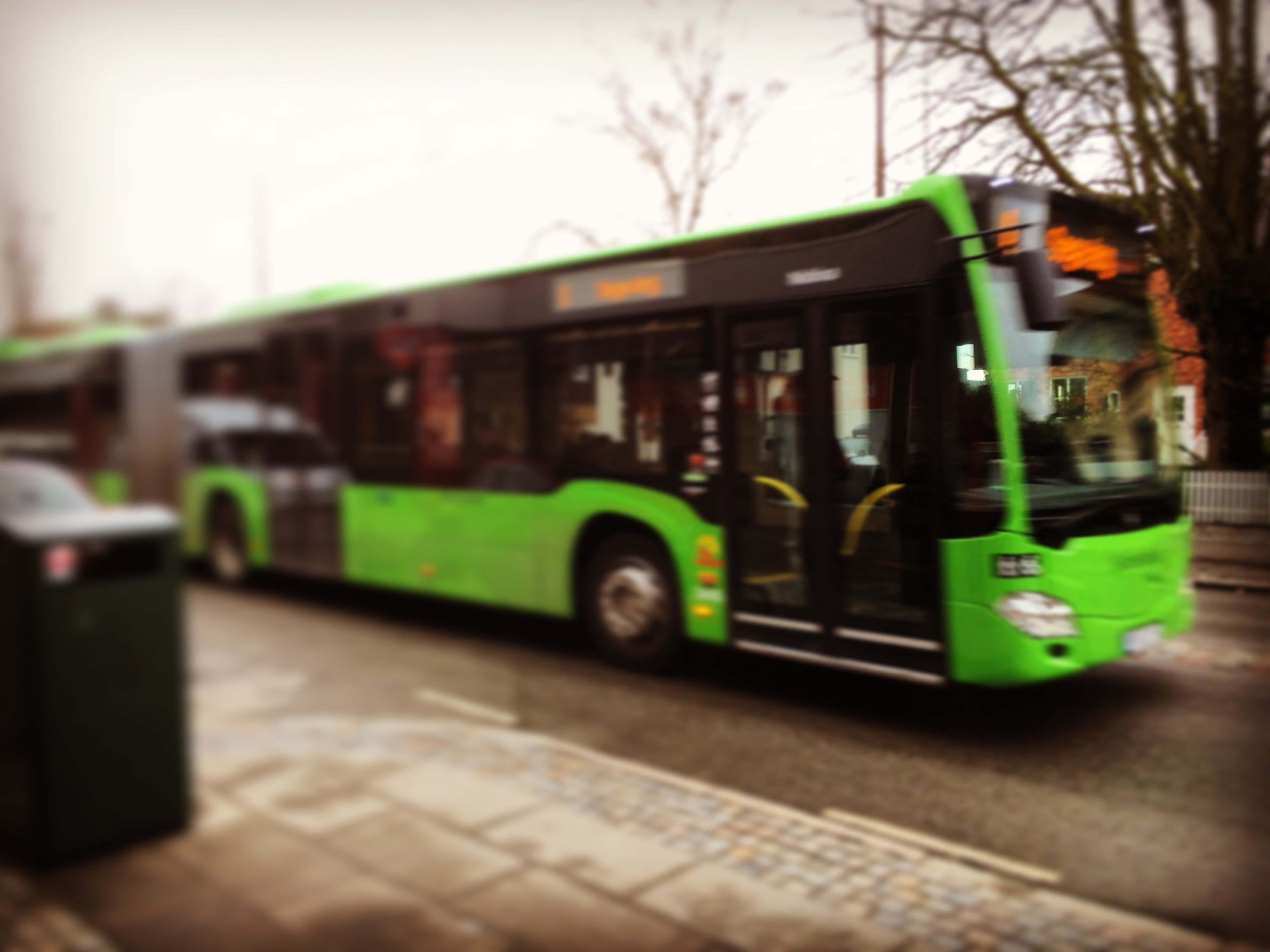 Biogas buses running in Sweden